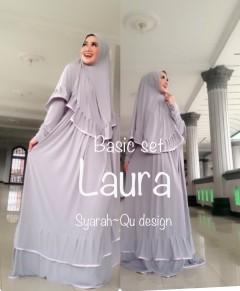 Busana Muslimah Terbaru Laura Syar'i by Syarahqu Design Abu
