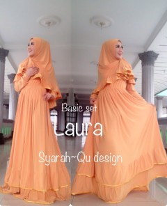 Busana Muslimah Terbaru Laura Syar'i by Syarahqu Design Kuning