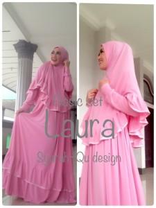 Busana Muslimah Terbaru Laura Syar'i by Syarahqu Design Pink