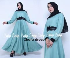 Busana Muslimah Terbaru Shafa Dress by Rabiya Biru