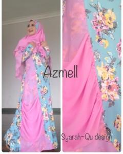 Busana Muslimah Terbaru Trendy Azmell Pink