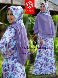 Busana Muslimah Terbaru Trendy Sechan Sabby Chic by Layra Lavender