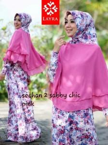 Busana Muslimah Terbaru Trendy Sechan Sabby Chic by Layra Pink