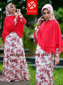 Busana Muslimah Terbaru Trendy Sechan Sabby Chic by Layra Red