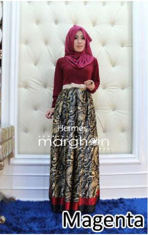 Busana Muslimah Trendy Hermes by Marghon Magenta