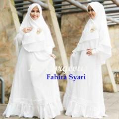 Koleksi Baju Muslim Syar'i Terbaru Fahira by Lil Gorgeous Putih Tulang
