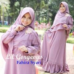 Koleksi Baju Muslim Syar'i Terbaru Fahira by Lil Gorgeous Ungu Lavender