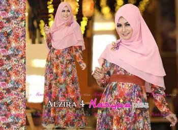 Koleksi Busana Muslim Terbaru Al Zira 4 by Nasywanisa Coklat Bata