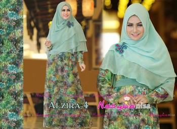 Koleksi Busana Muslim Terbaru Al Zira 4 by Nasywanisa Dusty Blue