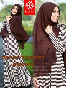 Koleksi Busana Muslim Terbaru De'key Strippy by Layra Brown