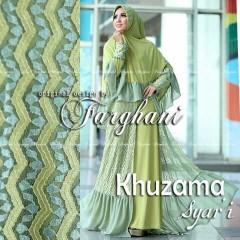 Koleksi Busana Muslim Terbaru Khizama Syar'i by Farghani Hijau