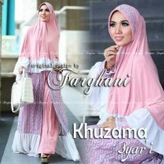 Koleksi Busana Muslim Terbaru Khizama Syar'i by Farghani Pink