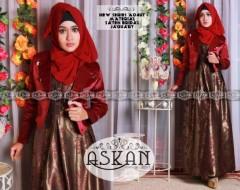 Koleksi Busana Muslim Trendy Balimo Askan vol. 2 Merah