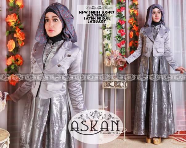 Koleksi Busana Muslim Trendy Balimo Askan vol. 2 Silver