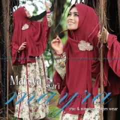 Koleksi Busana Muslimah Terbaru Marsya by Mayra Maroon