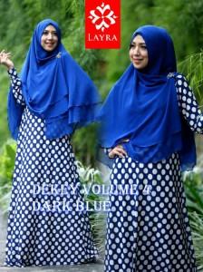 Model Terbaru Busana De'key Syar'i by Layra Dark Blue