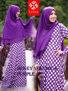 Model Terbaru Busana De'key Syar'i by Layra Purple