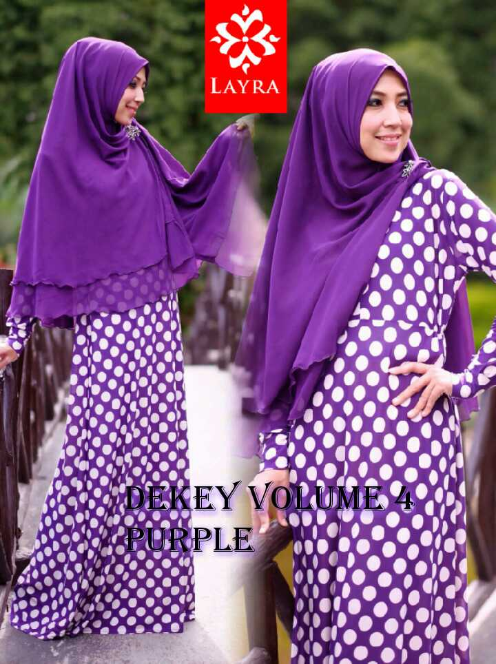 Model Terbaru Busana De'key Syar'i by Layra Purple