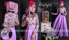 Model Terbaru Busana Muslim Wanita Modern Balimo Hafsya Purple