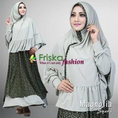 Trend Baju Muslim Syar'i Magnolia by Friska Hijau Pupus