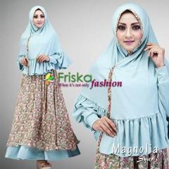Trend Baju Muslim Syar'i Magnolia by Friska Hijau Semen