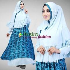 Trend Baju Muslim Syar'i Magnolia by Friska Light Mint