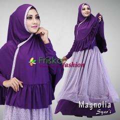Trend Baju Muslim Syar'i Magnolia by Friska Purple