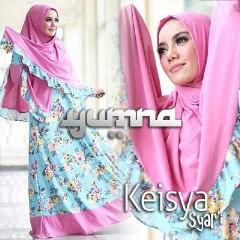 Trend Busana Muslimah Terbaru Keisya Syar'i by Yumna Fanta-Blue