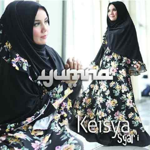 Trend Busana Muslimah Terbaru Keisya Syar'i by Yumna Hitam