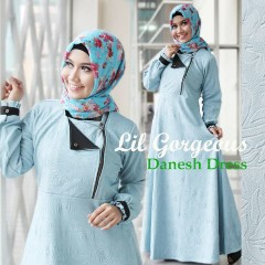 Trend Terbaru Busana Muslim Danes by Lil Gorgeous Biru Muda