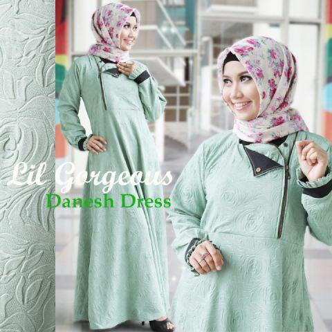 Trend Terbaru Busana Muslim Danes by Lil Gorgeous Hijau Mint
