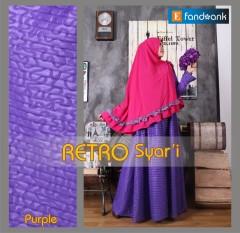 Trend Terbaru Busana Muslim Retro Syar'i by Efandoang Purple