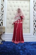 Trend Terbaru Busana Muslim Wanita Britania 3 by Marghon Cream-Merah