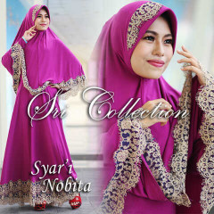 Trend Terbaru Busana Muslimah Nobita Syar'i by Sri Collection Magenta