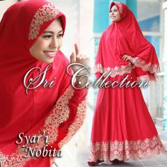 Trend Terbaru Busana Muslimah Nobita Syar'i by Sri Collection Merah