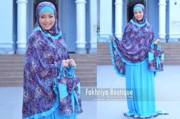 Trend Terbaru Mukena Hafiyya by Fakhriya Biru Turkis (1)