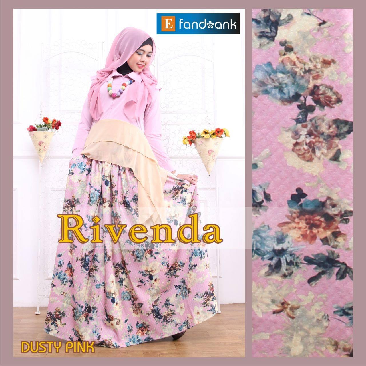 Rivenda Dusty Pink Baju Muslim Gamis Modern