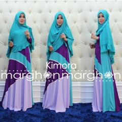 busana muslim kimora biru ungu by marghon