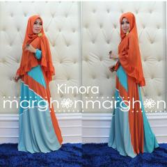 busana muslim kimora orange baby blue by marghon