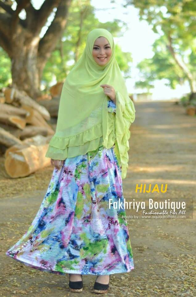 Fatimah Hijau Baju Muslim Gamis Modern