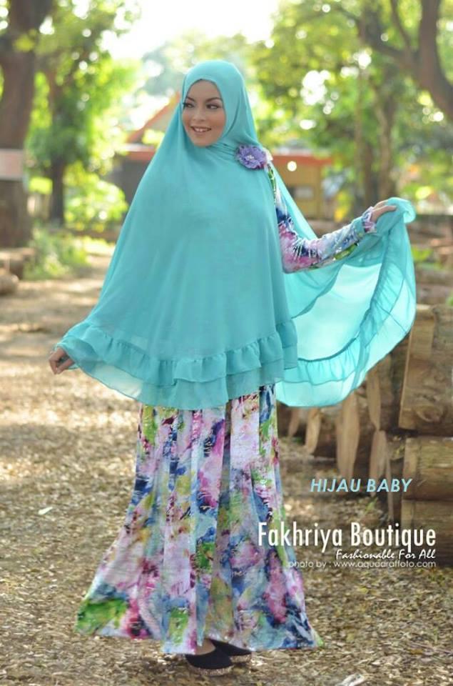 Fatimah Hijau Baby Baju Muslim Gamis Modern