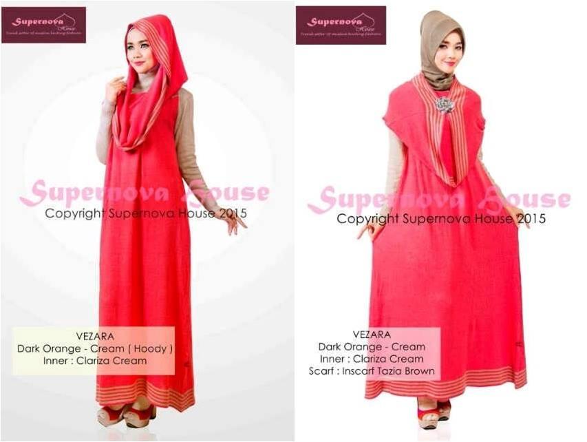 Vezara Or Cream Baju Muslim Gamis Modern