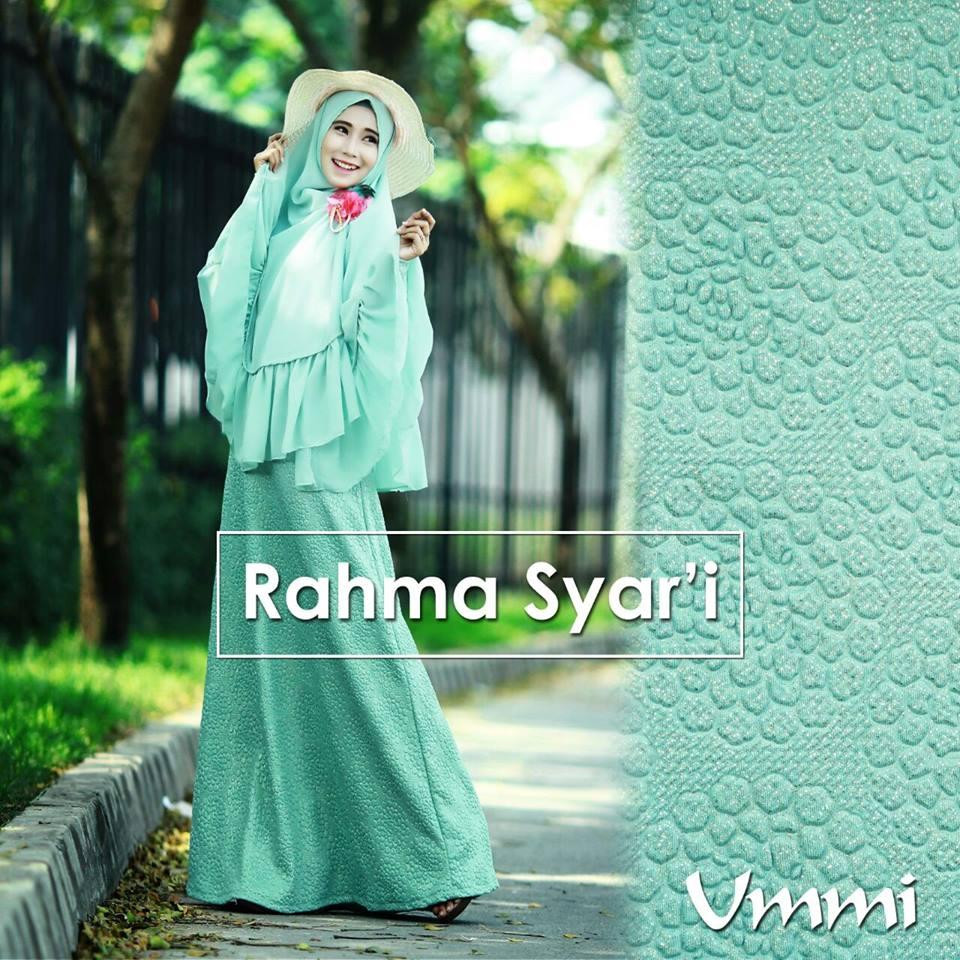Rahma Hijau Tosca Baju Muslim Gamis Modern