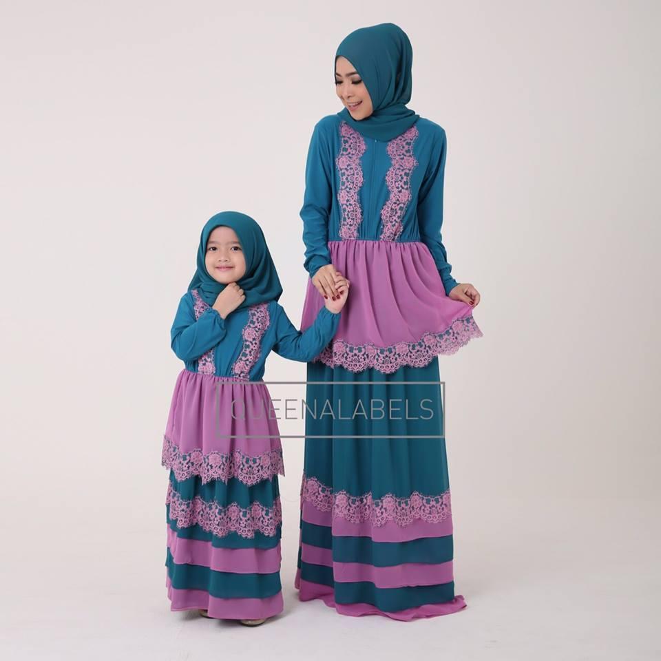 Zareta Mom N Kids D Baju Muslim Gamis Modern