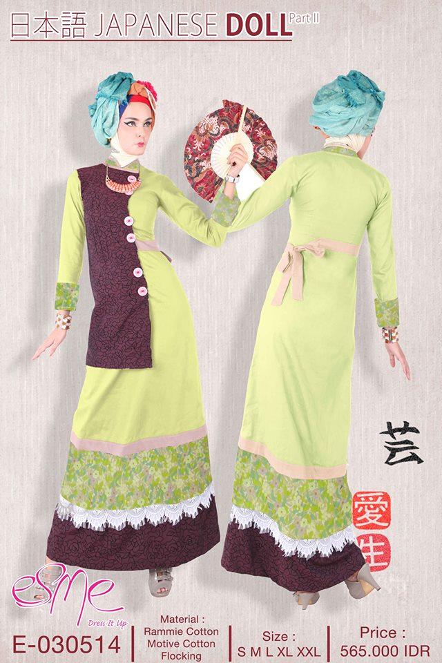 E 030514 Baju Muslim Gamis Modern