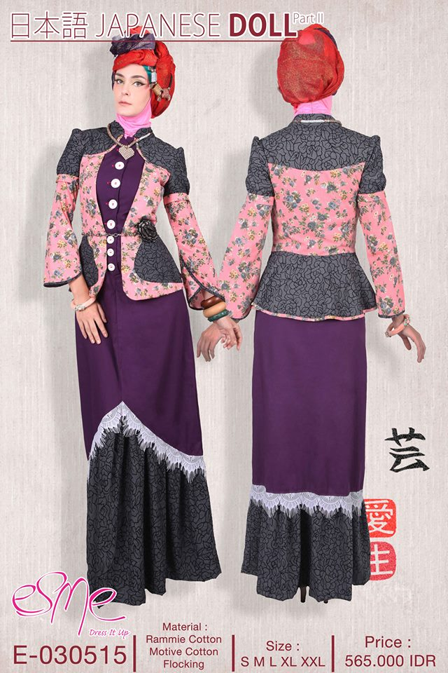E 030515 Baju Muslim Gamis Modern