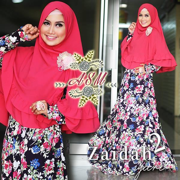 Violeta Peach Baju Muslim Gamis Modern