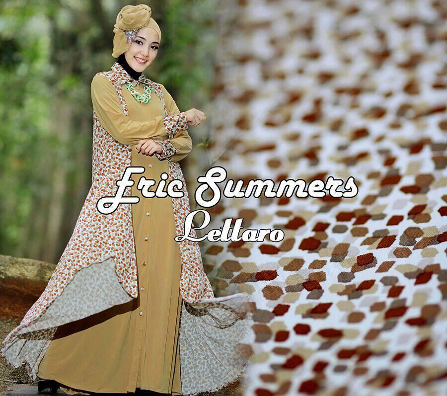Lettaro Coklat Baju Muslim Gamis Modern