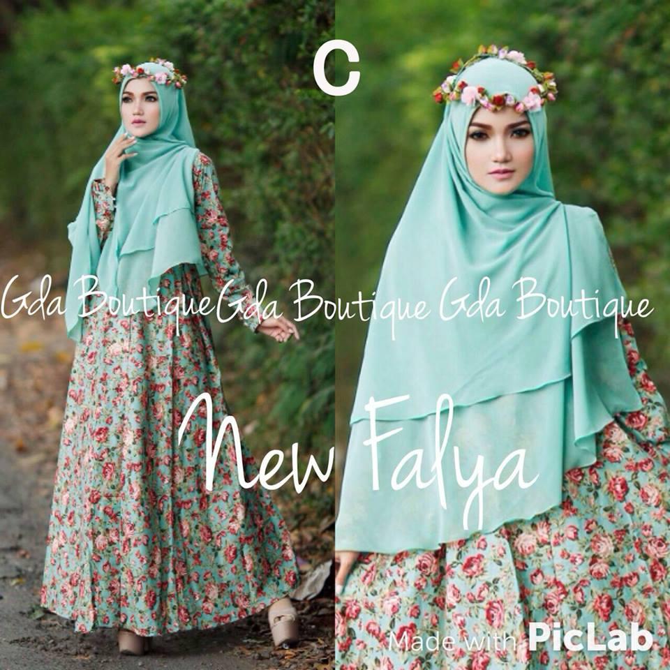 New Falya Kode C Baju Muslim Gamis Modern