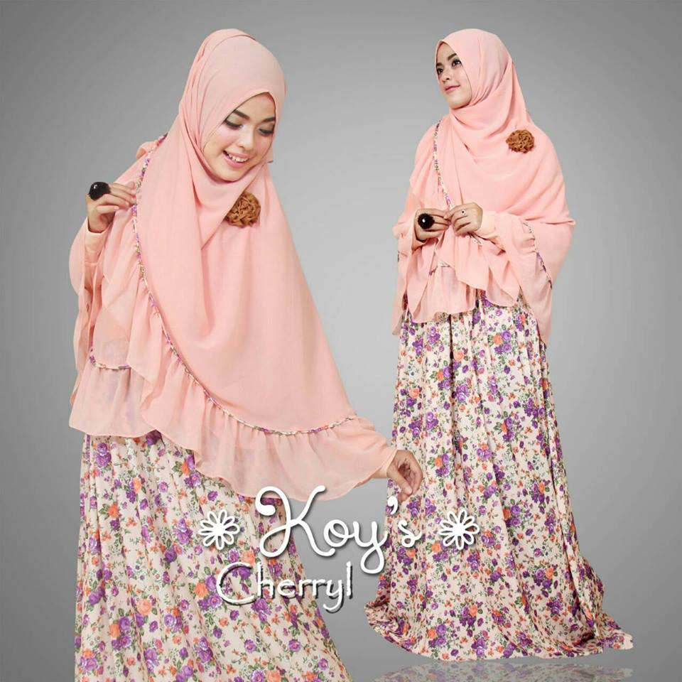 Cherryl Peach Baju Muslim Gamis Modern